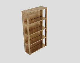 3D asset Ana White Reclaimed Wood Rolling Shelf 2