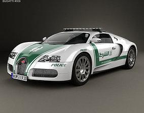 3D Bugatti Veyron Police Dubai 2014