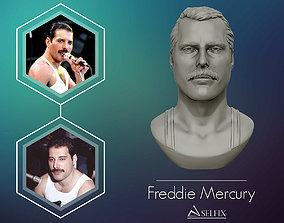face Freddie Mercury 3D printable portrait