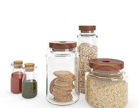 Kitchen Glass Jars 3D