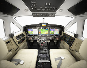 3D Beechcraft King Air c90gtx interior