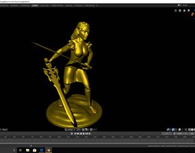 female warrior 3d print rdy