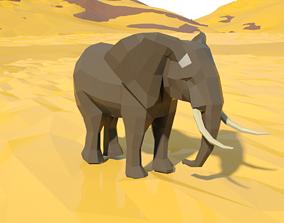 animated Elephant 3d model animated