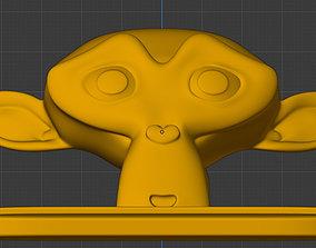 Blender Monkey Phone Holder 3D print model