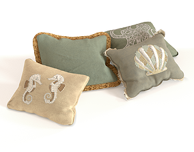 3D model game-ready Decorative Pillows