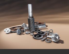 Gears Pack 3D asset