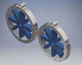 Circumscribed Flower Earrings 3D printable model