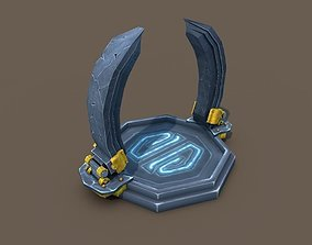 Low Poly Portal 3D asset