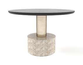 3D asset Sunpan - Monaco Coffee Table - Gold
