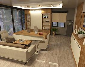 office 3D model interior design