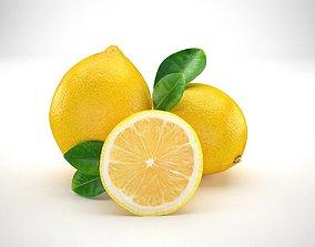3D Lemon citrus