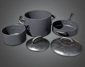 3D asset KTC - Cooking Pots 03 - PBR Game Ready