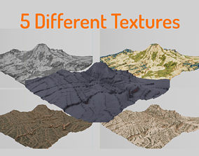 Mountain Erosion Hill - 5 Different Texture and 3D asset 1