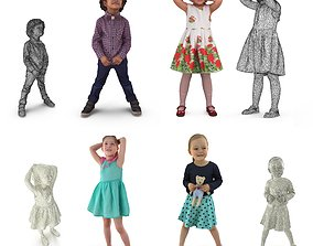 3D model Child Collection x4