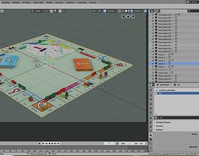 Monopoly Game Table 3D model