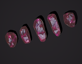 Medieval Style Pink Jewels 3D asset