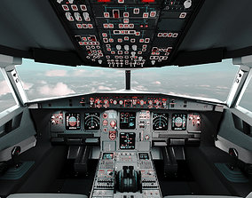 Airbus A320 Airplane Cockpit 3D