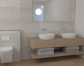 Modern Bathroom interiour 3D model