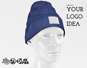 3D asset Beanie Hat Cap Winter - Blue