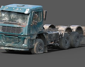 3D model Abandoned Brandless Euro Truck Lowpoly