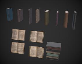 Set of Books 3D asset