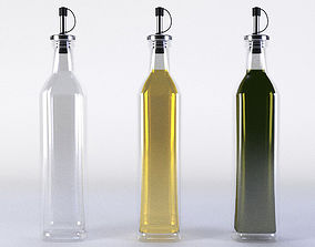 Olive Oil Bottle Set 3D
