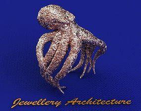 Octopus Ring Tribal 3D printable model