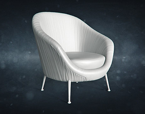 Armchair covered with cloth 3D