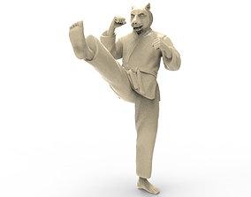 Tiger Front kick 3D print model