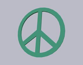 3D model Peace Symbol