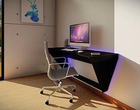 Floating Metal Desk 3D