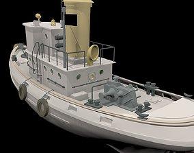 Yacht ship 3D asset