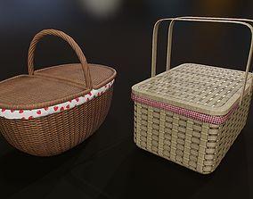 3D model realtime Wicker basket