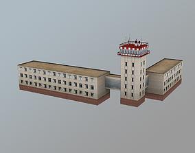 3D model Airport Control Tower URKK KDP