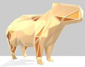 3D printable model Polygonal Capybara Parametric