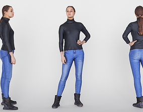 3D asset realtime Female casual 01