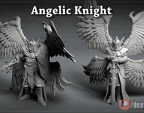 Angelic Knight - 3D printable character - 2 Poses