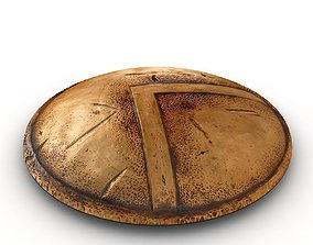 3D model bronze spartan shield