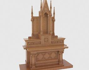 Gothic wooden altar 3D model