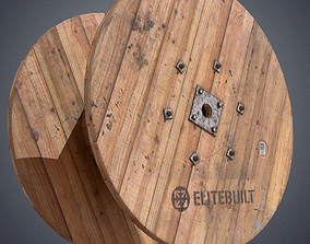 Cable spool 3D asset game-ready