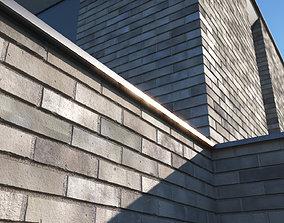 3D model Grey clinker brick texture large surface