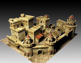 3D model game-ready castle