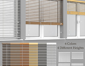 3D model Wooden Blinds And Windows