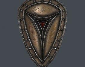 Fantasy shield 6 3d model game-ready