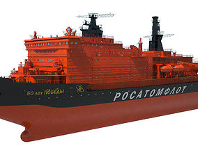 3D model Icebreaker 50 Years of Victory
