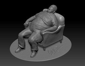 miniatures fat man sleep 3D printable model