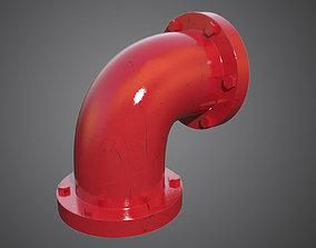 Corner Red Pipe 3D model