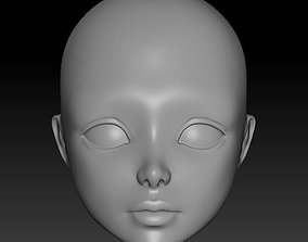 3D printable model head doll