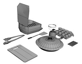 Kitchen Set 2 3D model