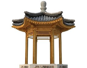 3D asset Ancient Chinese Architecture Six corner
